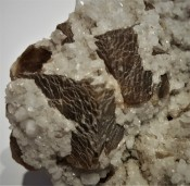 Gypsum on Quartz